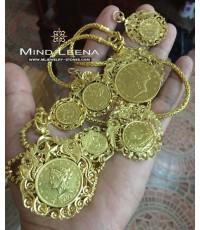จี้กิมตุ้นทองคำโบราณ เหรียญราชินีทองคำ