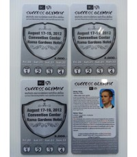 บัตรพนักงาน บัตรส่วนลด บัตรสมาชิก บัตรโฆษณา พีวีซี ใส่บาร์โค๊ด Card PVC 2 ด้าน