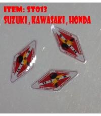 สติ๊กเกอร์ กุญแจชิ๊ป honda kawasaki suzuki