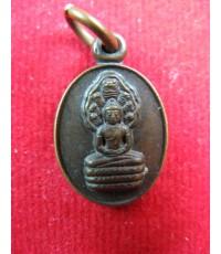 เหรียญปั๊มรูปไข่ พระนาคปรก ปี29 หลวงปู่ดู่ วัดสะแก