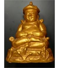 พระบูชา พิมพ์พระบัวเข็ม ทาทอง ฐานปั๊มยันต์ตุ๊กตา หลวงปู่ดู่ วัดสะแก