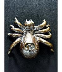 แมงมุมตาเพชรรุ่นมหาเศรษฐีเนื้อโลหะผสมรมดำ หลวงปู่สุภา