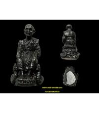 พระรูปหล่อหลวงปู่ดู่นั่งจับเข่า หลวงตาม้า วัดพุทธพรหมปัญโญ (1)