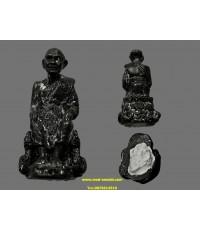 พระรูปหล่อหลวงปู่ดู่นั่งจับเข่า หลวงตาม้า วัดพุทธพรหมปัญโญ (2)