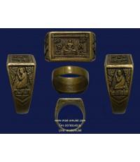 แหวนพระพุทธ ปี22 โลหะผสม หลวงปู่ดู่ วัดสะแก LP Doo
