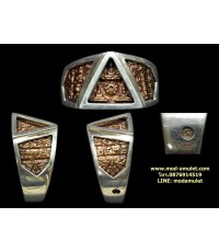 แหวนพระรัตนจักร เนื้อโลหะ ปี35 หลวงปู่ชื้น วัดญาณเสน Lp Chuen