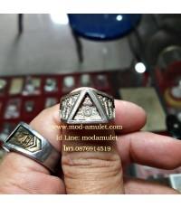 แหวนพระรัตนจักร เนื้อเงิน ปี33 หลวงปู่ชื้น วัดญาณเสน Lp Chuen