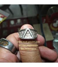 แหวนพระรัตนจักร เนื้อเงิน ปี34 หลวงปู่ชื้น วัดญาณเสน Lp Chuen