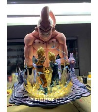 Figure class dragon ball resin statue BUU VEGETA GOKU