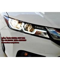 ชุดโคมไฟหน้า Honda City 2014 ไฟหน้า