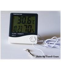 เครื่องวัดอุณหภูมิและความชื้นสัมพัทธ์ 3 in 1 แบบมีสาย รุ่น HTC-2