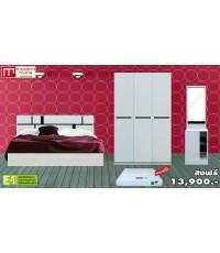 ชุดห้องนอน Lite - Set (D) สีขาว