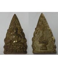 เหรยญพระพุทธชินราช หลังพานพระศรี เนื้อฝาบาตรกระไหล่เงิน