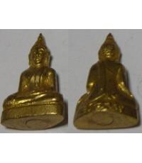 พระกริ่งปั้ม เจ้าคุณนรรัตนราชมานิต พิมพ์พระพุทธ เนื้อทองเหลือ กะไหล่ทอง