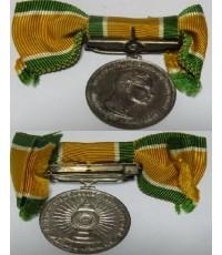 เหรียญรัชกาลที่ 9เหรียญที่ระลึกงานฉลองสิริราชสมบัติครบ25ปี พ.ศ.2518 เนื้อเงิน พร้อมแถบแพร