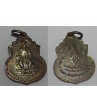 เหรียญสมเด็จพระนเรศวร มหาราช  ที่ระลึกวางศิลาฤกษ์ วัดใหญ่ชัยมงคล อยุธยา เนื้อเงิน