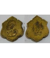 พระเครื่อง เหรียญหน้าวัว พิมพ์หลวงพ่อเงิน เนื้อทองะแดง กะไหล่ทอง