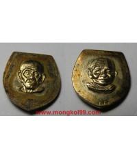 พระเครื่อง หัวแหวนหลวงปู่ทวด วัดช้างไห้ เนื้อทองแดงกะไหล่ทอง