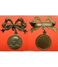 พระเครื่อง  เหรียญสมเด็จพุทธจารย์โตพรหมรังสี วัดระฆัง รุ่น 100 ปี พิมพ์เล็ก เนื้อทองแดงกะไหล่ทอง กรร