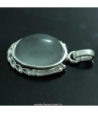 จี้แก้วโป่งข่ามประเภทแก้วประภาหมอกมุงเมืองงานเงินแท้รหัส 678