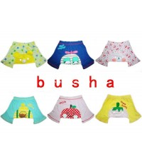 Peorder ขายส่งกางเกงขาสั้น Busha ก้นลายหวานน่ารัก แพ็คละ 18 ตัว (6 ลาย 3 size) จัดส่งฟรี