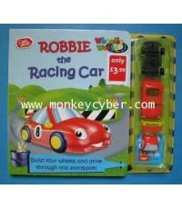 หนังสือภาพ Robbie the Raccing car  มาพร้อมกับรถยนต์ของเล่นค่ะ