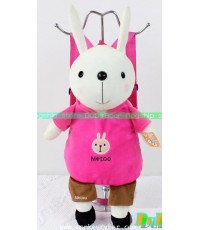 กระเป๋าเป้สะพายหลังตุ๊กตากระต่าย metoo ผ้าตุ๊กตาทั้งใบค่ะ