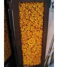 ฉากไม้ วาดลาย 4 พับ  Partition Wood carving Partition Spa