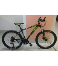 จักรยาน เสือภูเขา ราคาสุดประหยัด เฟรมอลู เกียร์ 21 สปีด ดิสก์เบรกหน้าหลัง  ยี่ห้อ LALENT