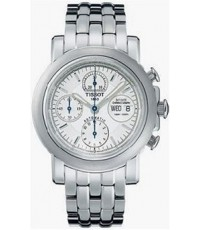 Tissot Men\'s White Dial 3-Hand Day Date Chronograph Watch T54.1.487.31