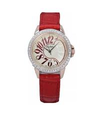 ALBA นาฬิกาข้อมือ ผู้หญิงสายหนังสีแดง รุ่น AXU038X1