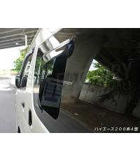 กันสาดหน้าต่างเล็กที่นั่งด้านหลัง สำหรับ TOYOTA Commuter(สีควันดำ) ผลิตโดย MUD Factory ประเทศญี่ปุ่น
