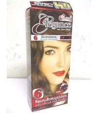 Carring Elegance สีช็อกโกแลตกลาง เบอร์ 6