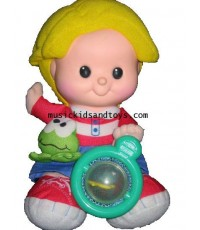 Fisher Price : Little People Plush Eddie Doll Giggles and frog croaks