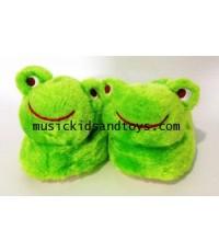 Frog Toddler Sock Top Bootie Green Slippers