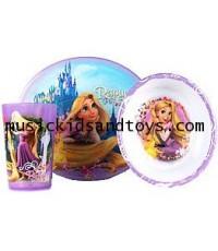 Disney : Rapunzel Tangled 3 Piece Mealtime Set