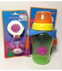 Barney : Pecifier and Soft Spout Sippy Cup