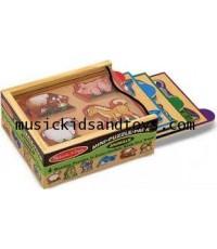 Melissa and Doug : Animals Mini-Puzzle Pack