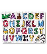 Melissa and Doug : See-Inside Alphabet Wooden Peg Puzzle