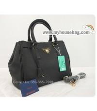 กระเป๋า PRADA Saffiano lux tote (สีน้ำเงิน)