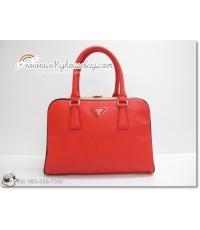 กระเป๋า ปราด้า Prada Saffiano Patent Leather bag Mirror Image สีแดง