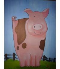 ภาพวาดกาตูปีเกิด สีอคิลิค