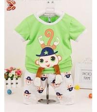 ชุดหนุ่มหล่องลิงน้อยสีเขียว ( แขนห้อย ) น่ารักมากค่ะ สีสันสดใส สินค้านำเข้าใหม่ล่าสุุดค่ะ