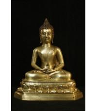 พระบูชาศิลปะเชียงแสน ยุครัชกาล ก้นดินไทย หน้าตัก 9 นิ้ว