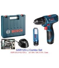สว่านไขควงไร้สาย GSR 120-LI Combo Set BOSCH