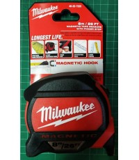 ตลับเมตร MAGNETIC HOOK 48-22-7225 8M /26ft Milwaukee