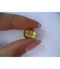 เพชรพญานาค สัณฐานแฮมเบอร์เกอร์ สีเหลือง (รุ่นเล็ก 1.1 cm)