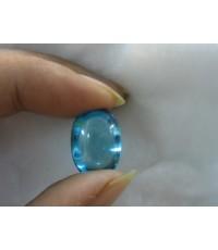 เพชรพญานาค สัณฐานเป็นไข่ สีฟ้าน้ำทะเล (รุ่นกลาง )