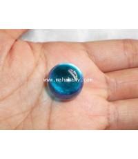 เพชรพญานาคสัณฐานลูกแก้ว (กลมเกลี้ยงเกลา) สีฟ้าน้ำทะเล