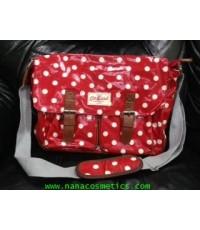 กระเป๋าสะพาย Cath kidston สีแดงจุดขาว